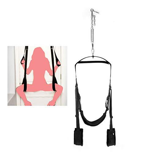 Adult Swing Chairs Hanging Love Swing Sex Spielzeug für Paare Erótǐc Verwenden Sie an der Tür,Einstellbare Höhe,Black -