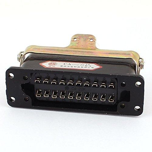 DealMux CA-20 elektrische Schaltung verbunden 20 Pin Kontakte Rechtecksteckverbinder