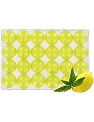 Boîte de 24 perles d'huile de bain - Verveine/citron translucide