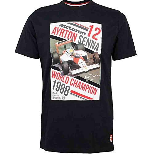 Ayrton Senna McLaren-Camiseta World Champion 1988Negro, weiß