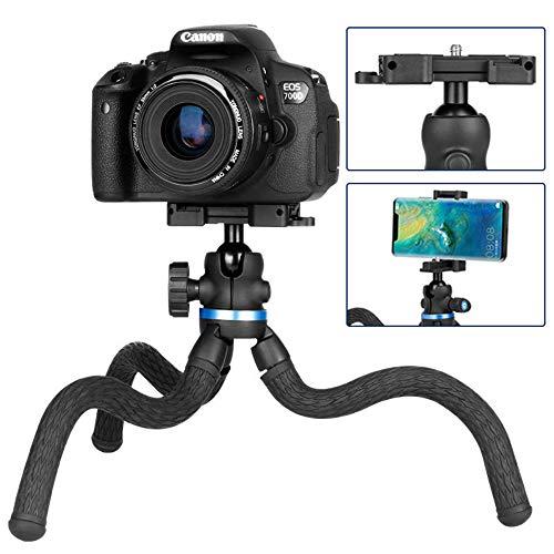 BESTSUGER Mobile Phone Camera Stativ, Octopus Stativ, Spiegelreflexkamera Mini Portable Phone Selfie Photography Multi-Function Triangle Bracket (Chat Vedio)