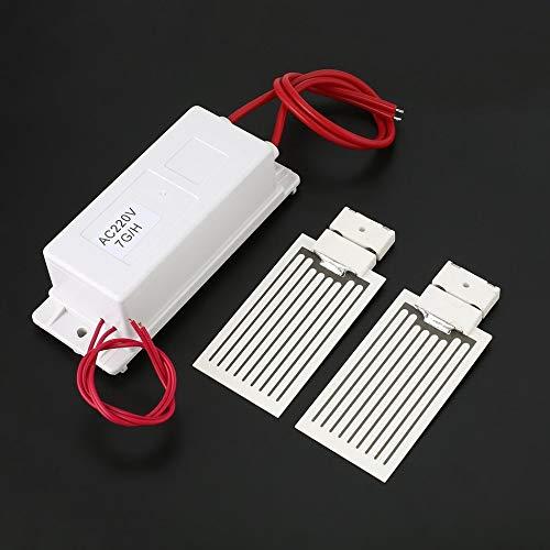 Libertroy 220V 7g / h Mini generador de ozono Fuente de alimentación Placa de cerámica Dividida Kit...