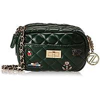 Zeneve London Womens Crossbody Bag, Green - 1191830491