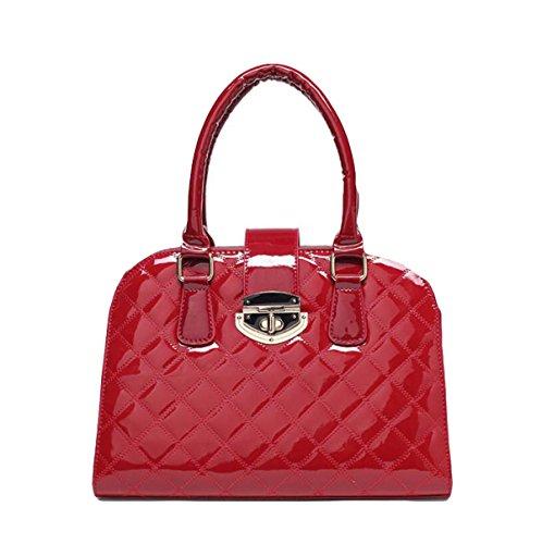 Damen Handtasche Frühjahr Geprägt Helle Seite Bedeckt Deckel Verschluss Anti - Diebstahl Tasche Schultertasche Red