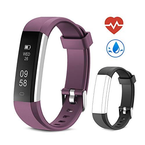 Yuanguo Fitness Armband mit Pulsmesser Fitness Tracker Schrittzähler Uhr IP67 Wasserdicht Aktivitätstracker Fitnessuhr mit Schlafüberwachung Kalorienzähler Vibrationsalarm für Kinder Damen Herrn -