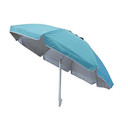 Milanihome ombrellone spiaggia palo alluminio Ø 2 m palo Ø 0,32 m per campeggio spiaggia mare piscina giardino
