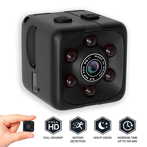 Colorful Versteckte Kamera Mini Kamera Sport HD DV Kamera 1080P Tragbare Tiny Video Sound Kamera mit IR Nachtsicht & Bewegungserkennung (Mini-sport-kamera)