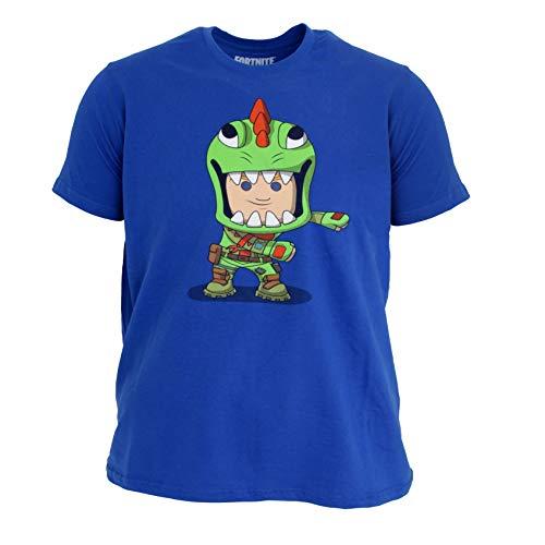 Fortnite - Camiseta Infantil (9/10 Años) (Azul)