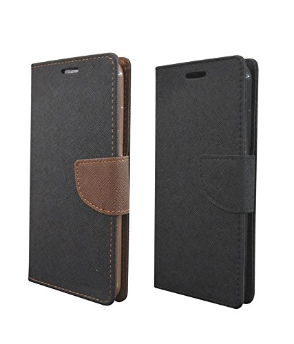 COVERNEW 2 Flip Cover for HTC Desire 816 Dual sim - Black Brown::Full Black