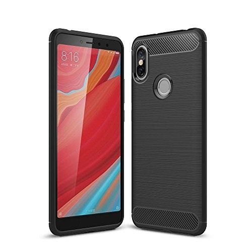 König Design Handy-Hülle geeignet für Xiaomi Redmi S2 / Y2 Bumper Case Hülle aus TPU Silikon | Sturzsichere Back-Cover Handyhülle in Schwarz | Im Carbon Erscheinungsbild