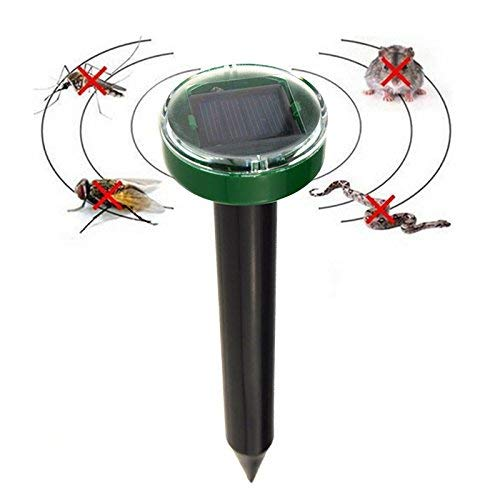 Zhujian Outdoor Garden Mole Repellent Solar Power Ultrasonic Mole Snake Bird Mosquito Mouse Ultrasonic Pest Repeller Control Garden Yard - Garden Pest-repeller