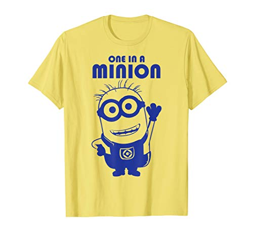 Despicable Me One In A Minion Purple Minion Drawing T-Shirt (One A Minion Shirt In)