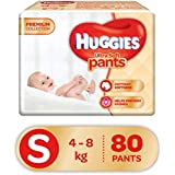 Huggies Ultra Soft Pants Diapers, Small (Pack of 80)