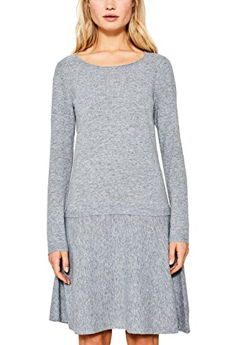 ESPRIT Damen Kleid 107EE1E004 Grau (Grey 5 034), X-Small