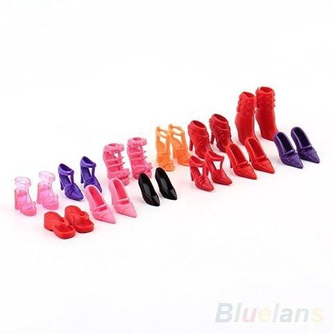 Barbie Modepuppen 12 Paare unterschiedlicher Farbe (Farbe zufällig Stil)