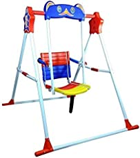 ATNINE Indoor/Home/Garden/Outdoor Steel and Iron Swing Chair for Babies (Multicolour)