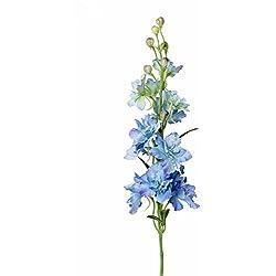 artplants Künstlicher Rittersporn RASMINE, hellblau, 60 cm, Ø 10 cm - Delphinium Blume/Kunstblumen