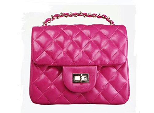 Signora, sacchetto di spalla dell'unità di elaborazione, borsa cellulare, sacchetto del messaggero femmina, borsa catena Lingge rose Red
