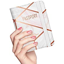 Nacuwa Porte-Passeport Housse - Protège-Passeports Organiseur de Voyage  Protecteur Portefeuille Pochette Étui fc1161e8716