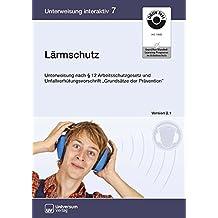 """Lärmschutz, CD-ROM Unterweisung nach 12 Arbeitsschutzgesetz und Unfallverhütungsvorschrift """"Grundsätze der Prävention"""""""