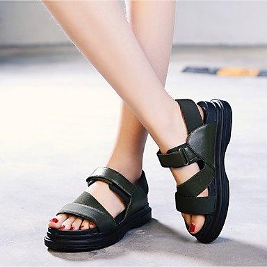 RUGAI-UE Estate Moda Donna Sandali Casual PU scarpe tacchi comfort,verde,US8