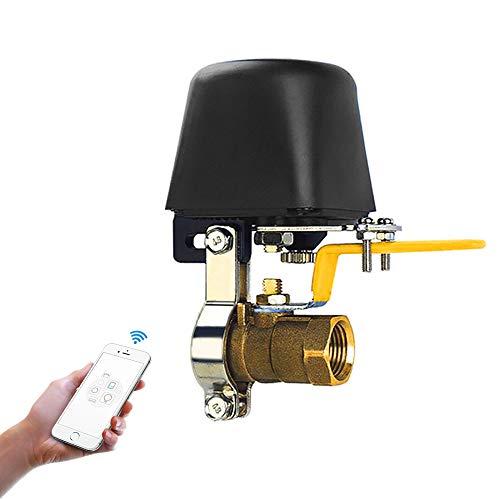 Automatische Gas-ventil (Owfeel WiFi Smart Wasser/Gas Ventil Automation Irrigation Controller Watering System Kompatibel mit Alexa, Google und dem Anwendungsprogramm iOS/Android)