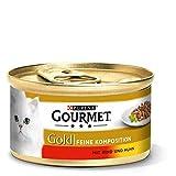 Purina Gourmet Gold Feine Komposition:Mit Rind Und Huhn,12er Pack (12 x 85 g)