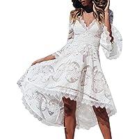 Mymyguoe Vestido Elegante del Partido de c/óctel del Hombro de la Barra del Corte s/ólido de Las Mujeres del cord/ón Atractivo Vestido Floral de Fiesta de Noche Slim Fit Bodycon Vestido