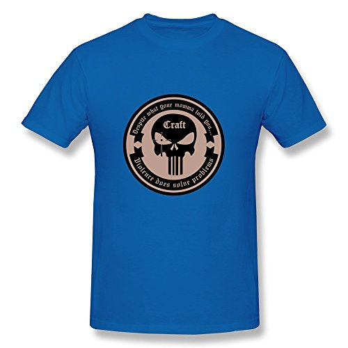 Uomo's American Sniper Chris Kyle & Military Uomo T-Shirt- RoyalBlue