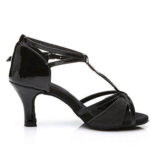 Scarpe Da Ballo Latino Per Signora Ballerine Standard E Stile Latino 255 Nero / Tacco2.76¡ ±