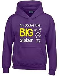 Direct 23 Ltd Personalised I'm The Big Sister Girls Hoodie