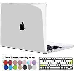 TECOOL Coque MacBook Pro 13 Pouces 2016/2017/2018/2019, Plastique Rigide Étui + Clavier Coque de Protection pour MacBook Pro 13 avec/sans Touch Bar Modèle: A2159/ A1706/ A1708/ A1989, Transparente