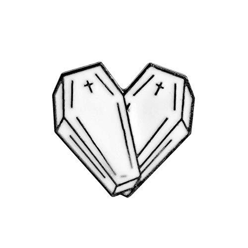Truteraa - Weihnachten Origami, wünschen Sie Löwenzahn, Sarg Herz, Spiderweb, Rose, Dolch Emaille Pins Broschen Pins Sammlung Punk Schmuck [3]