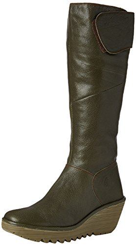 Fly London Stivali Donna Verde (Militar 012)