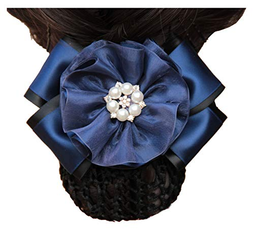 Barrette à cheveux Barrette Fleur Bun Cover Snood Hairnet Accessoire pour cheveux, M1