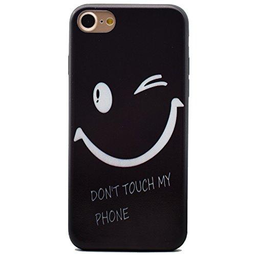 Voguecase® für Apple iPhone 7 Plus 5.5 hülle, Schutzhülle / Case / Cover / Hülle / TPU Gel Skin (Schwarz/mad here) + Gratis Universal Eingabestift Schwarz/my phone 03