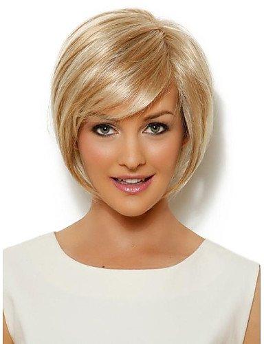 BBDM perruque courte de l'or synthétiques droites jolies femmes , 12 inch