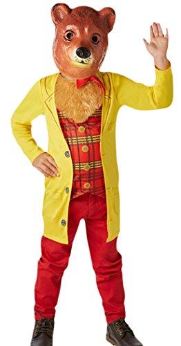 erdbeerloft - Unisex - Kinder Karneval Komplett Kostüm Mr. Bear , Gelb, Größe 98-104, 3-4 (100 Kind Bill Kostüme)