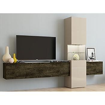 Wohnwand fernsehschrank wohnzimmerschrank mediawand tv for Wohnwand amazon