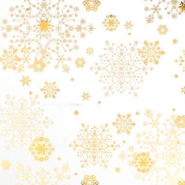 Geschenkpapier Weihnachten Rolle 50cm 50m Sterne weiß gold