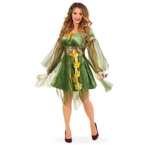 Kind Garten Fee Kostüm - Kostüm Waldelfe Kleid grün Herbstfee Fasching