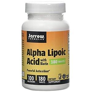 41EsqBaGXGL. SS300  - Jarrow Formulas Alpha Lipoic Acid, 100mg with Biotin - 180 Tabs, 180 Tablet