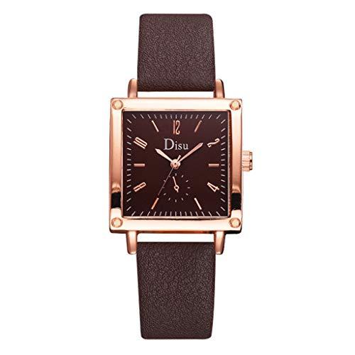 Haludock Single Eye Digitalwaage Square Dial Einfache und stilvolle Damen Quarz-Armbanduhr
