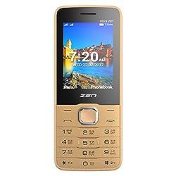Zen Ultra 201 Dual SIM Feature Phone (Champagne-Black)