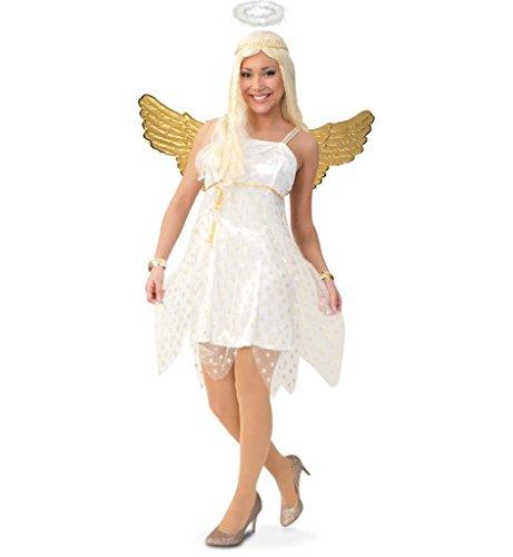 KarnevalsTeufel Damenkostüm Sirena Engel Weihnachten Kleid Gr 34 - 42 - Hellseher Kostüm