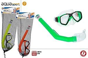 ColorBaby Conjunto Gafa Y Tubo Buceo Junior Bolsa Red Col SDOS 53933