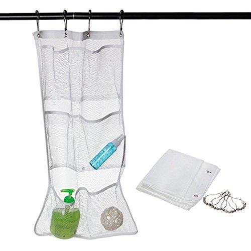 Hrph 6 Pocket Salle de bains Enregistrer espace douche baignoire Mesh Organizer sac de rangement Caddy Hanging