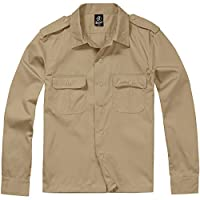 Brandit US Long-Sleeved Shirt Shirt Beige L