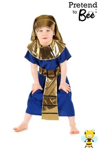 Jungen oder Mädchen ägyptischen Pharao Kostüm 5-7 Jahre (Junge Ägyptischen Kostüm)