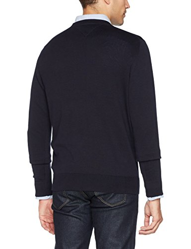 Tommy Hilfiger Herren Pullover Core Cotton-Silk Cneck Blau (Sky Captain 403)